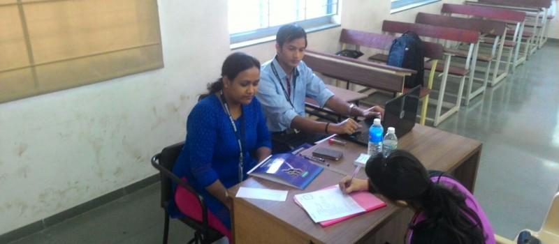 Ms. Rachel and Rajkumar conducting brain storming session.