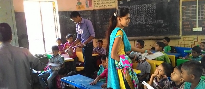 The students are participant to the activity for Children day activity which are taken by Wagons skill foundation, Pune.