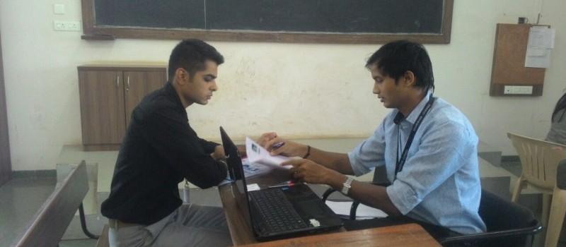 Mr. Raj providing career guidelines