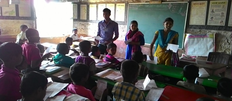 Mr. Rajkumar Dalvi and Volunteers of Wagons Skill Foundationgave the populates of need for the education.