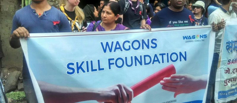 Local people as well as foreigners participated in the rally. Wagons Skill Foundation spreads awareness about HIV/AIDS
