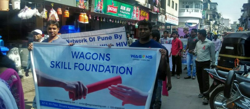 Wagons Skill Foundation conducted rally to create awareness about HIV/AIDS