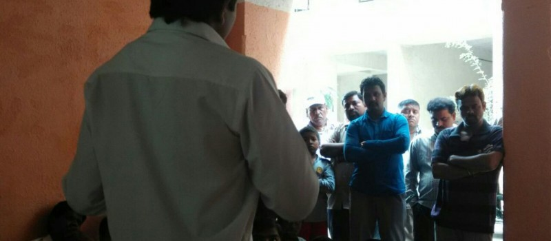 Trainer conducting the session on Importance of Skill Development for the better life and upliftment
